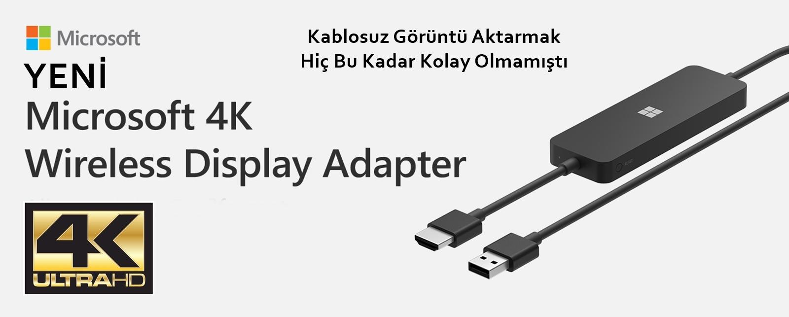 Microsoft 4K Kablosuz Görüntü Adaptörü