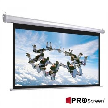 ProScreen Basic 300x225 Motorlu Kumandalı Duvar Butonlu Tak Çalıştır Projeksiyon Perdesi