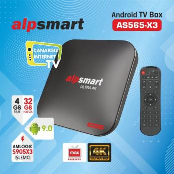 ALPSMART AS565-X3 ANDROID TV BOX 4G/32GB 4K PLAYER