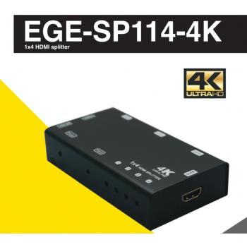 GERATECH 1X4 HDMI SPLITTER EGE-SP114-4K  DOLBY ATMOS (1 GİRİŞ - 4 ÇIKIŞ)